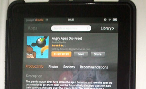 Angry Apes on Amazon Kindle Fire