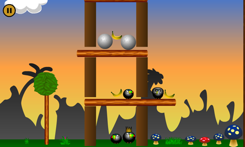 One of the new levels recently added to Angry Apes